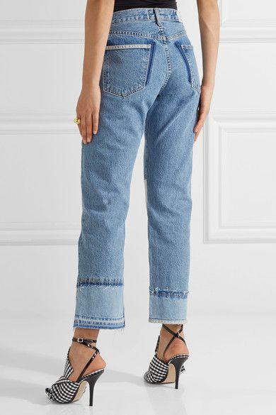 The Diy Patchwork High-rise Straight-leg Jeans - Blue Current Elliott YlOup6