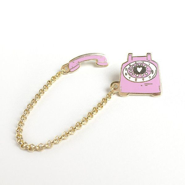 It is A LOT harder to drunk dial your ex on a rotary phone- maybe we all need one of these! Loving this rotary dial pink phone pin, straight outta our dreams. Wear on both sides of your collared shirt