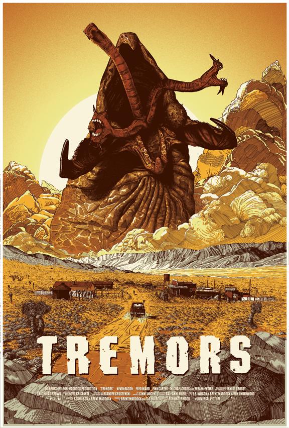 Tremors 1990 By Nathan Chesshir Cine Wallpaper Poster De Cine Poster De Peliculas