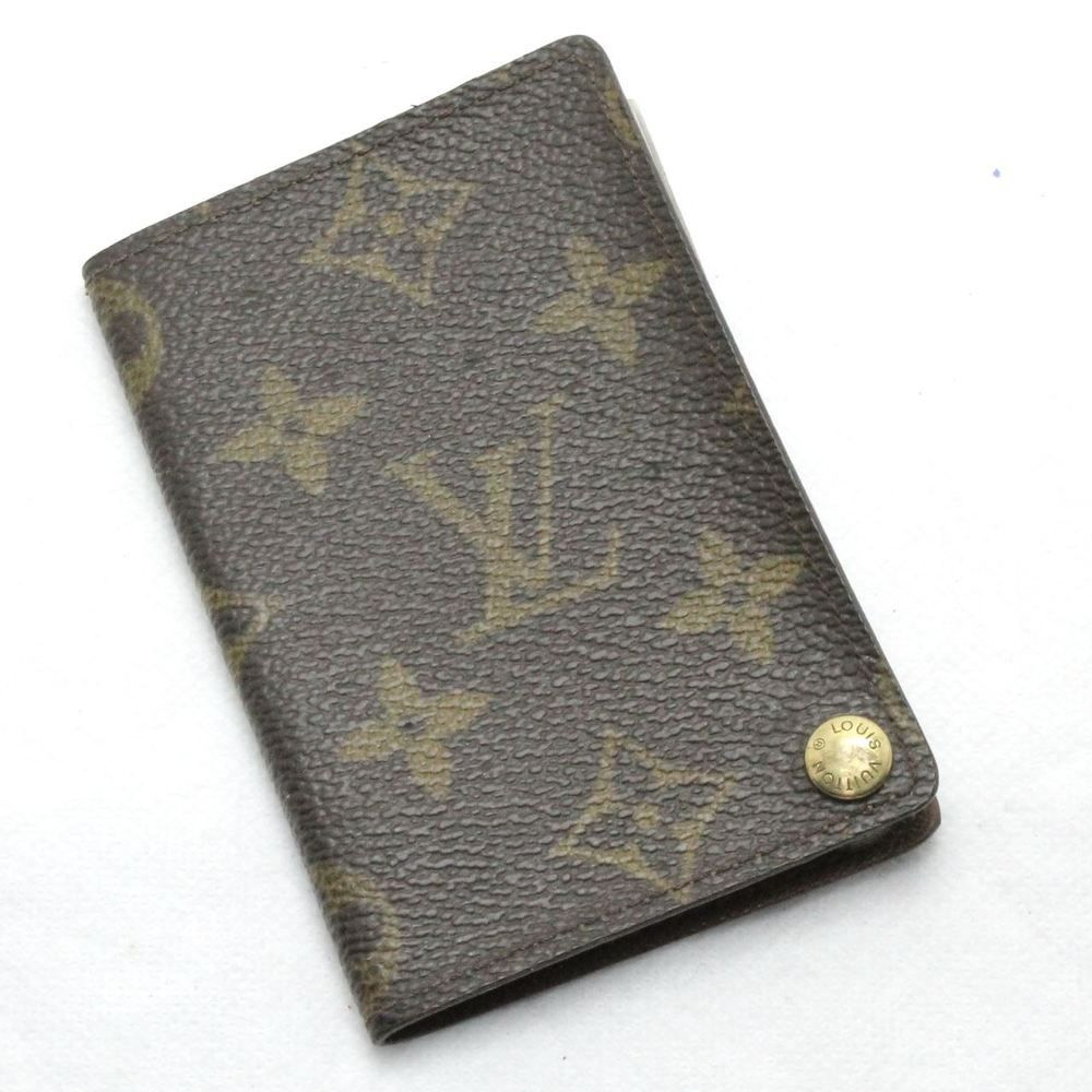 b0f932760a1 GENUINE LOUIS VUITTON PARIS MONOGRAM CREDIT ID CARD HOLDER WALLET ...