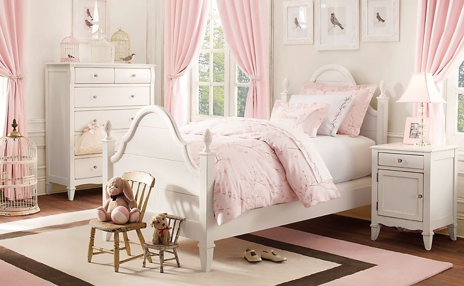 Girls\' Bedroom Decoration Ideas and Tips | Pinterest | Pink white ...