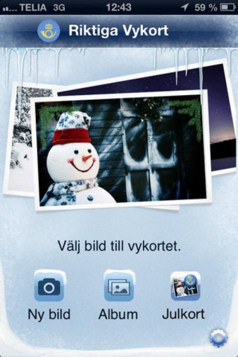 Med postens app kan du göra riktiga vykort av dina egna bilder http://blish.se/3a79f3623b #posten #vykort #post