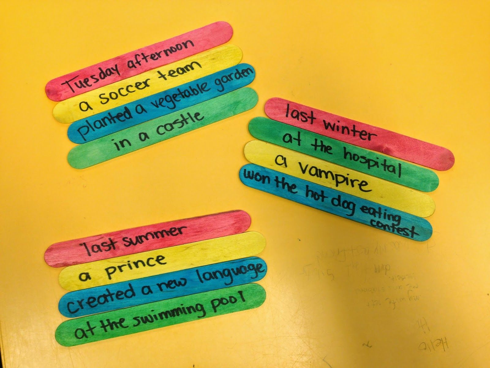 Teaching The 5 W S With Story Sticks