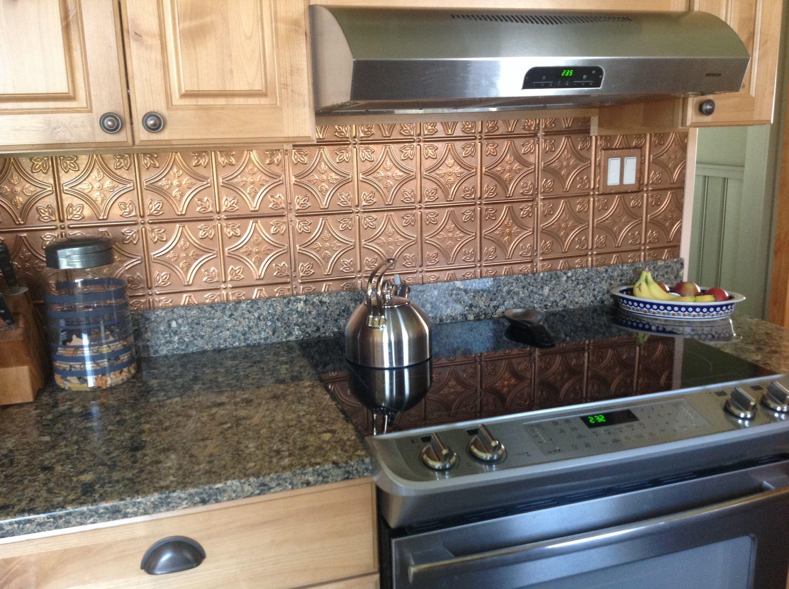 Easy Diy Kitchen Backsplashes That Cost Less Than 100 On Average Tin Tiles Http Www Am Tin Backsplash Kitchen Tin Backsplash Tin Tile Backsplash Kitchen