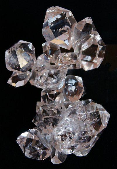 Crystal Diamond Silver Golden Round Flower Heart Anklet: Herkimer Diamond Cluster. Herkimer
