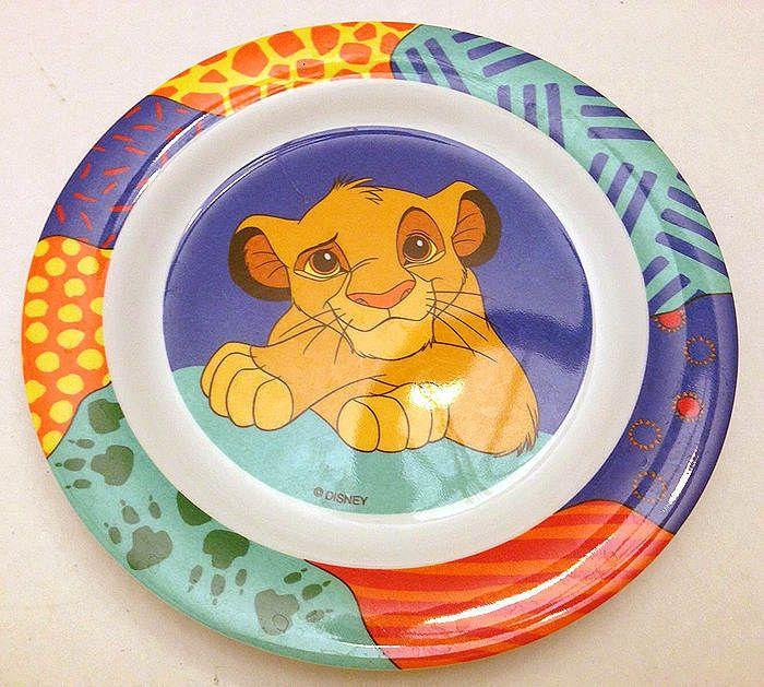 VINTAGE SELANDIA DISNEY LION KING SIMBA MELAMINE CHILDREN\u0027S PLATE ...  sc 1 st  Pinterest & Vintage selandia disney lion king simba melamine children\u0027s plate 8 ...