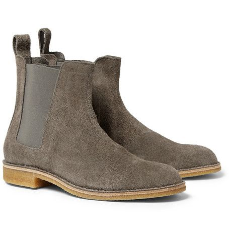 leather boots, Suede chelsea boots