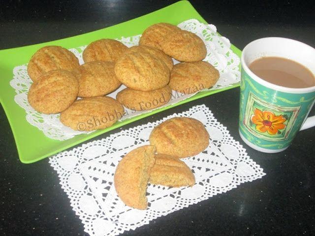 Shobha's Food Mazaa: BROA / BROINHA DE MILHO DA PADARIA ( Version 2 ) / CORN MEAL COOKIES