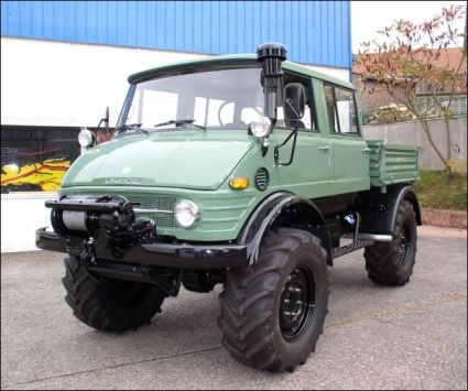 1977 Unimog 416 DoKa with Hydraulics, Tipper Bed and Winch ...