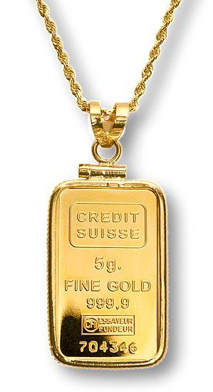 Credit Suisse 5G Gold Bar Necklace GEMS Pinterest Credit