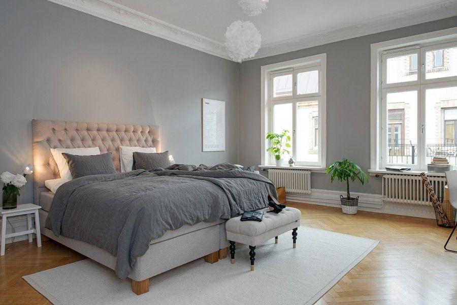 Gris y blanco siempre un acierto Bedrooms