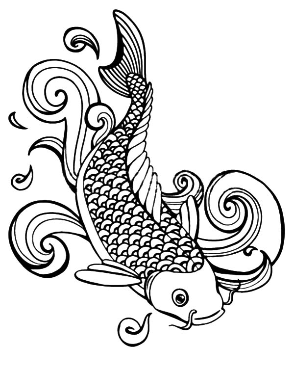 Gosanke Koi Fish Coloring Pages Download Print Online Coloring Pages For Free Color Nimbus In 2020 Fish Coloring Page Koi Fish Drawing Coloring Pages