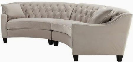 Bon Small Curved Sectional Sofa