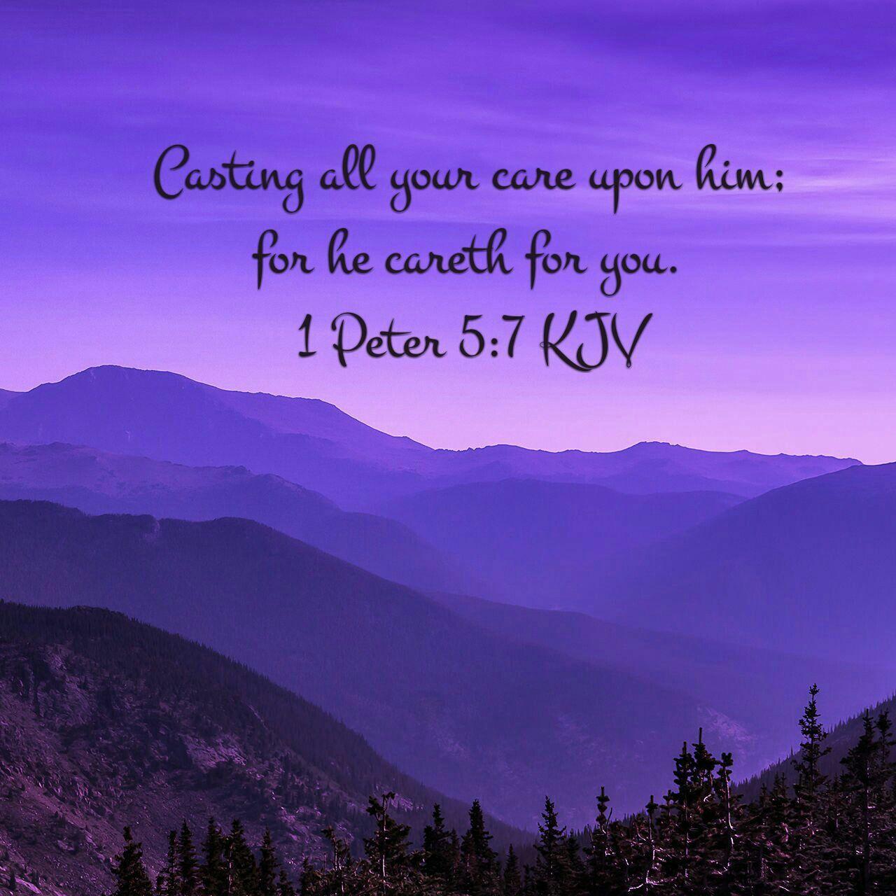 1 Peter 5:7 KJV | ~Bible verses~ | Pinterest