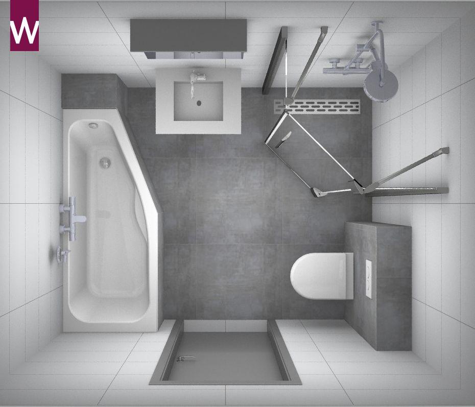 Kleine badkamer met versmalling voetgedeelte in ligbad kleine badkamer pinterest bath for Badkamer design italiaanse douche