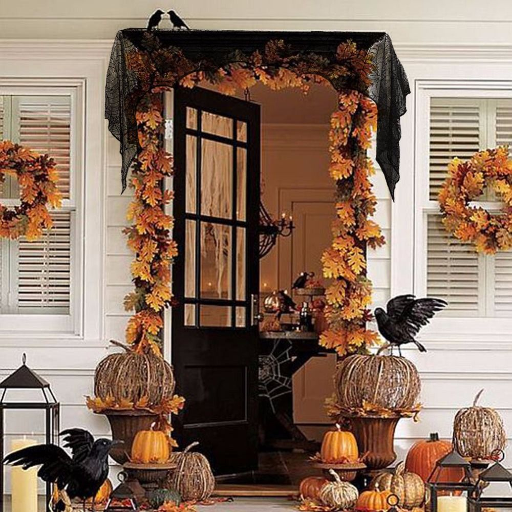 Image result for fireplace with doors on each side drapes Red Hill - Halloween Door Decoration Ideas