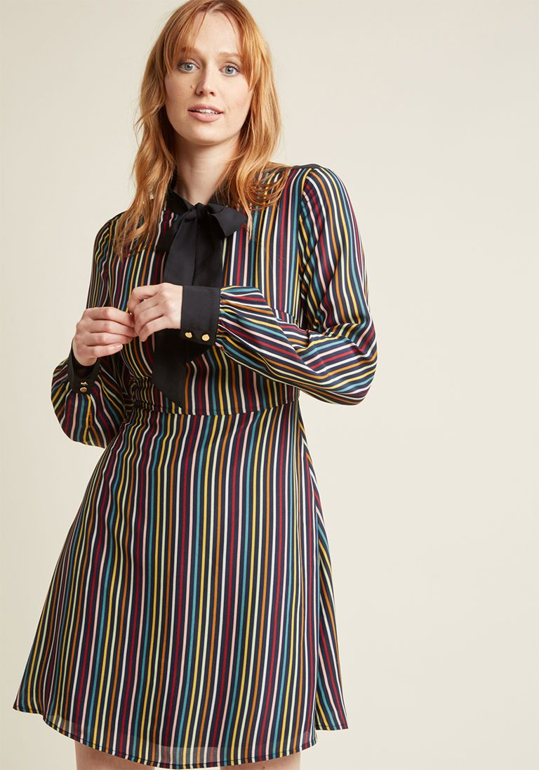 49c6ca8d48c Everyday Statement A-Line Long Sleeve Dress in S - Shift Knee Length