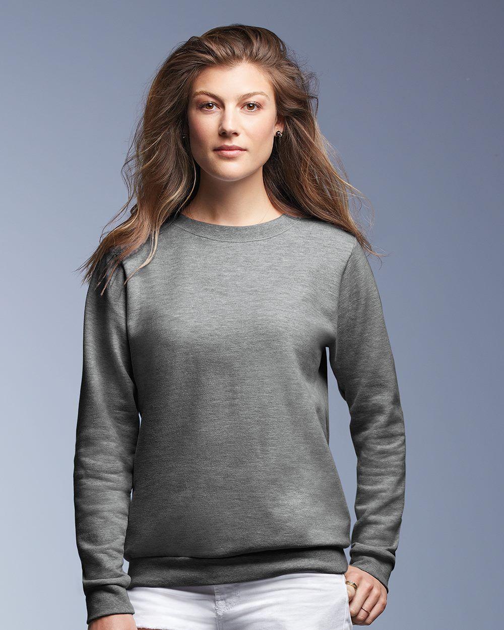 Anvil 71000FL Ladies' Crewneck Sweatshirt Wholesale and