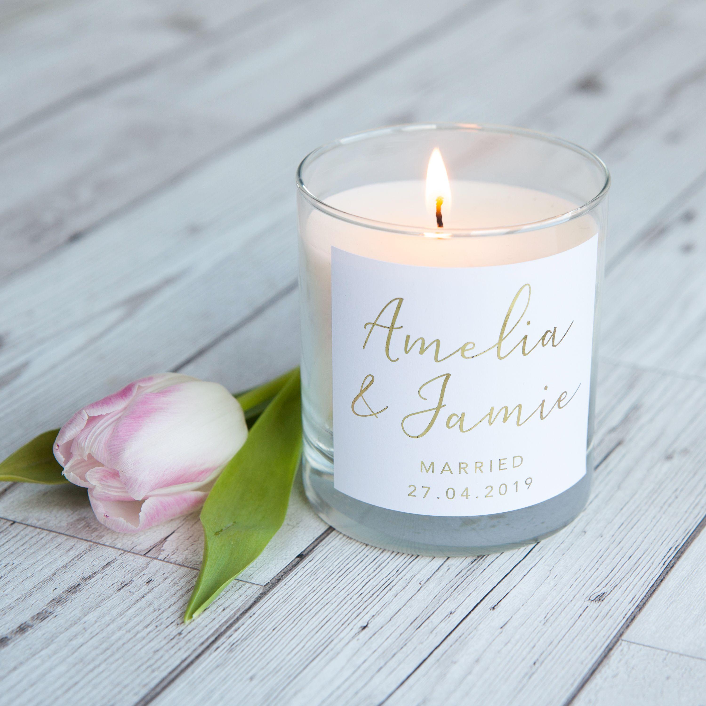 Personalised Wedding Candle Gift Candle Wedding Gift Personalised Wedding Candles Wedding Candles