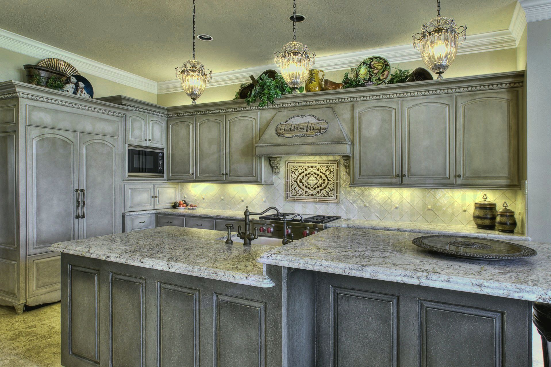 Pair Gray Cabinets With Warm Colors And Materials Gray Can Appear Auste Kitchen Cabinets Painted Grey Shabby Chic Kitchen Cabinets Distressed Kitchen Cabinets