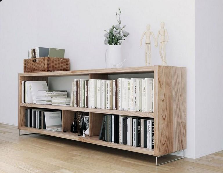 30 Incredible Long Low Bookshelf Design Ideas Made Of Wood Bookshelf Book Living Room Scandinavian Bookshelves In Living Room Scandinavian Design Living Room
