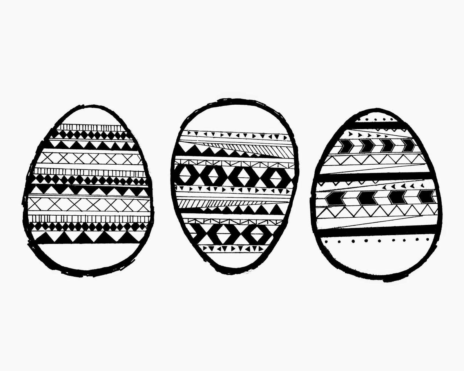 Aztec Easter Egg Print