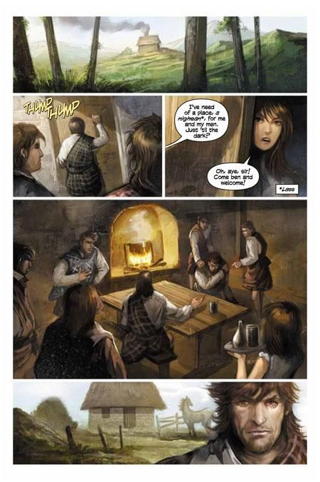 The Graphic Novel The Exile By Diana Gabaldon Tells The Story From Jamie S Point Of View It Begins Before Clai Graphic Novel Outlander Book Series Outlander