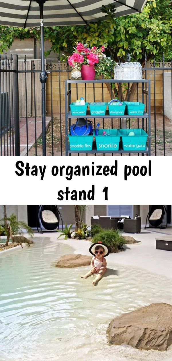 Stay organized pool stand 1 #pooloutfitideas