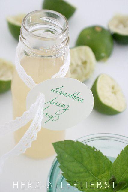 Limetten-Minz-Sirup by herz-allerliebst, via Flickr #lemonade