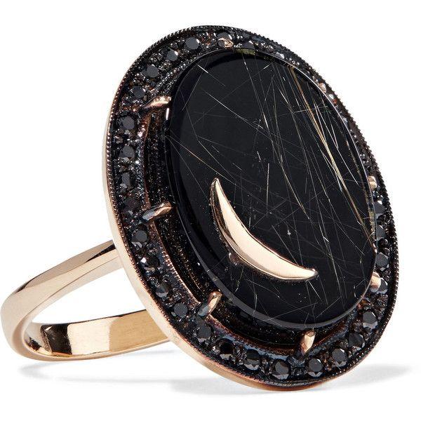Andrea Fohrman 14-karat Gold Multi-stone Ring pkF8T1b