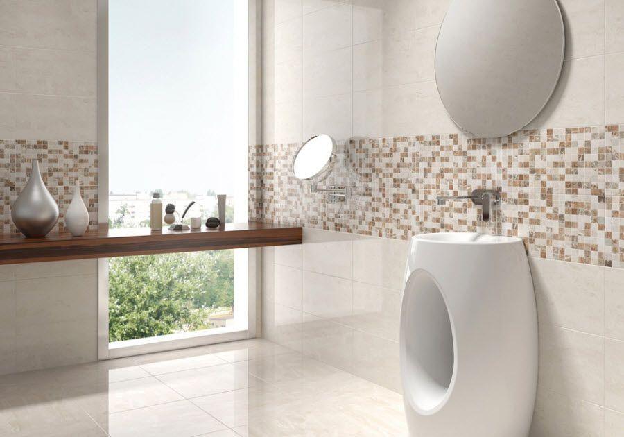 Carrelage de salle de bains en céramique pâte blanche - DANTE - moisissure carrelage salle de bain