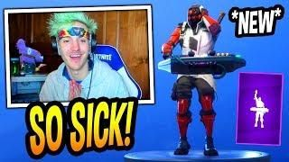 ninja reacts to new drop the bass emote dance epic fortnite funny moments - drop the bass fortnite emote