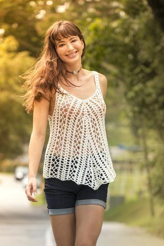 All Crochet Tank - Ivory