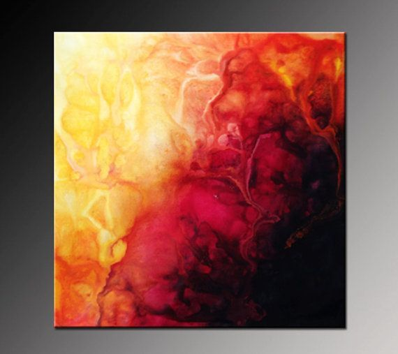 Image Result For Yellow Orange White Black Large Canvas