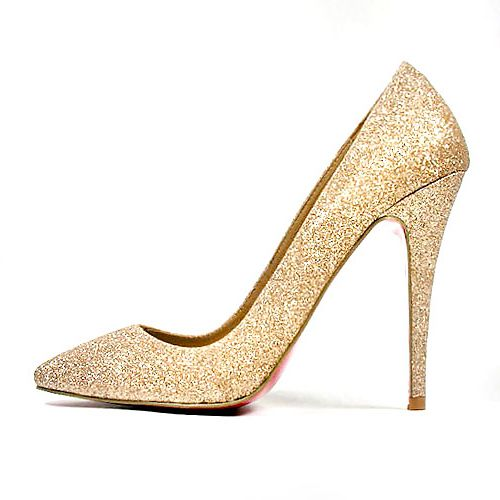 timeless design cfe62 bf69b Christian Louboutin. Gold glitter, red sole. Perfection ...