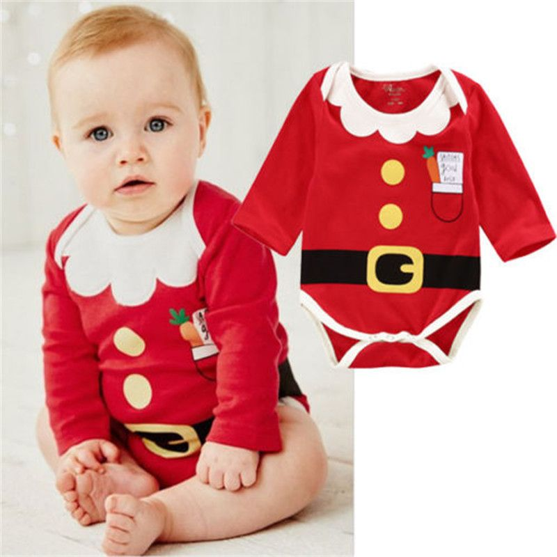 7066262680cf Baby Christmas Outfit - Party Romper