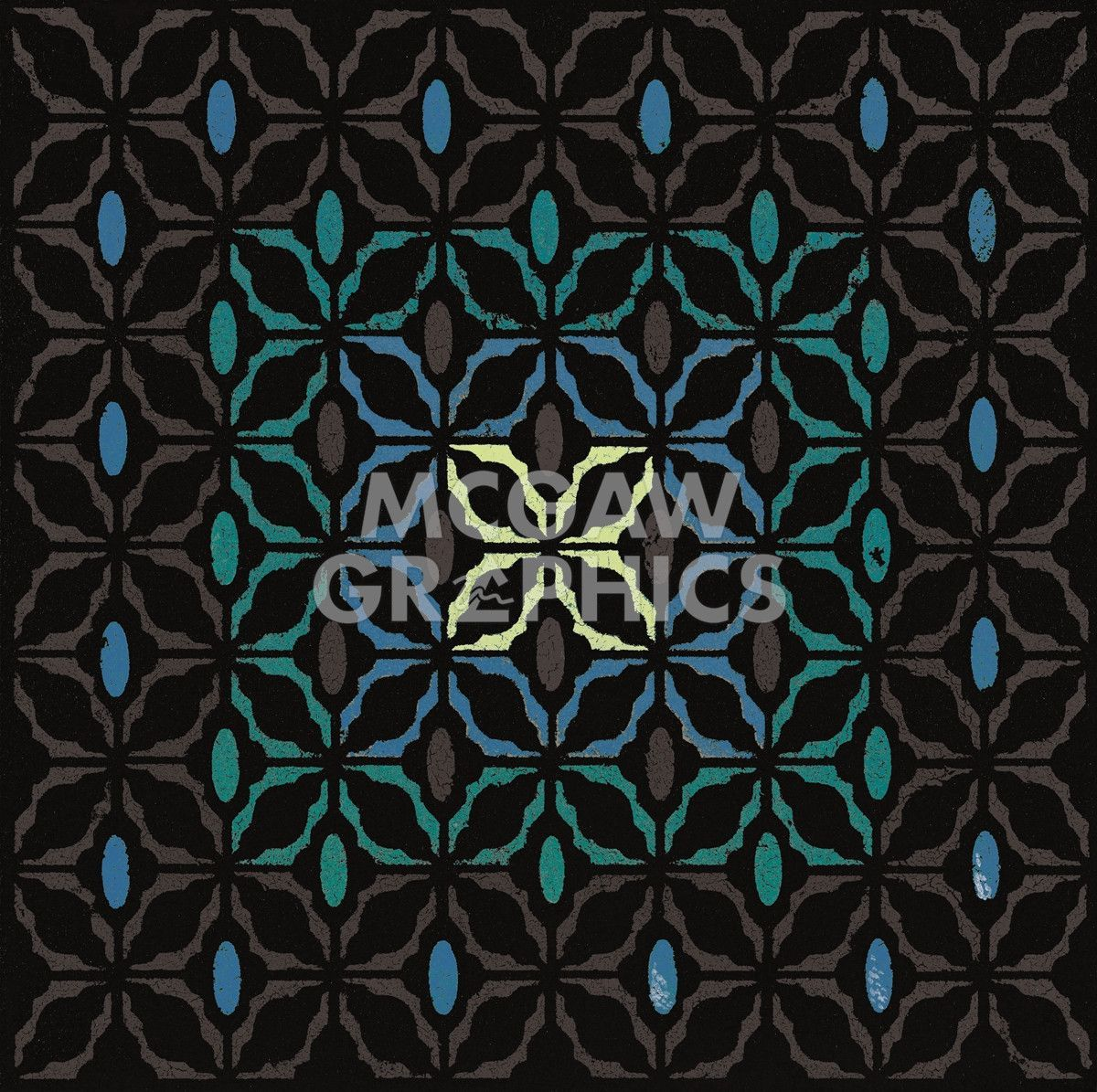 Moroccan Grill (Teal)
