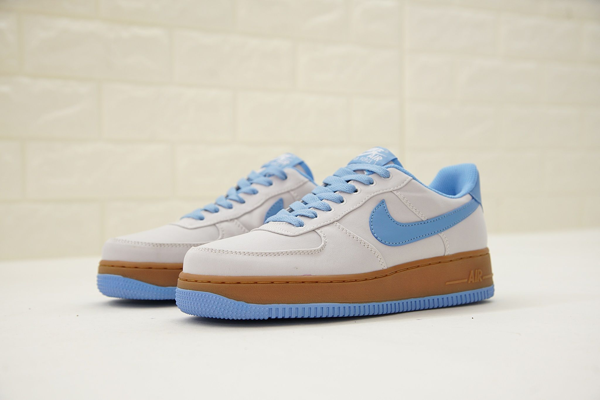 buy online f8ac8 6ae1f nike air force 1 low canvas 空軍一號復古帆布拼色情侶板鞋灰
