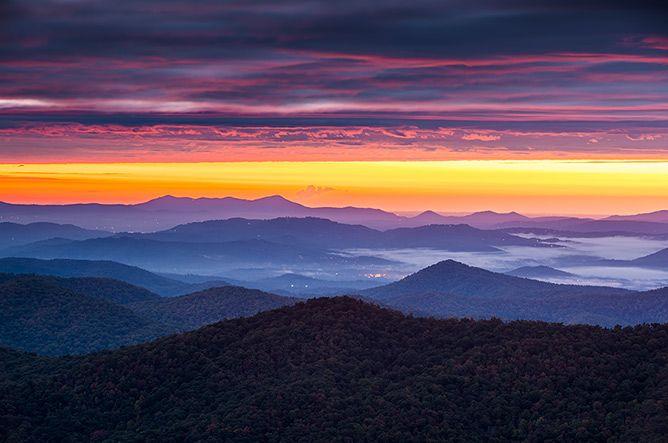Blue Ridge Mountains Twilight Landscape Photography Asheville Nc Mountain Landscape Photography Blue Ridge Scenery Pictures