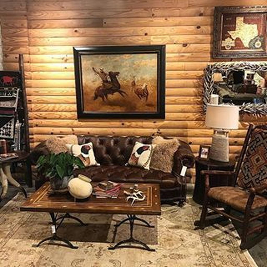 48 Gorgeous Western Rustic Home Decorating Ideas House Decor Rustic Western Living Room Decor Western Living Rooms