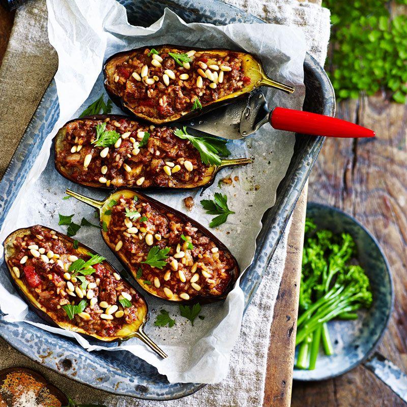 Lebanese Stuffed Eggplants Recipe Middle East And North