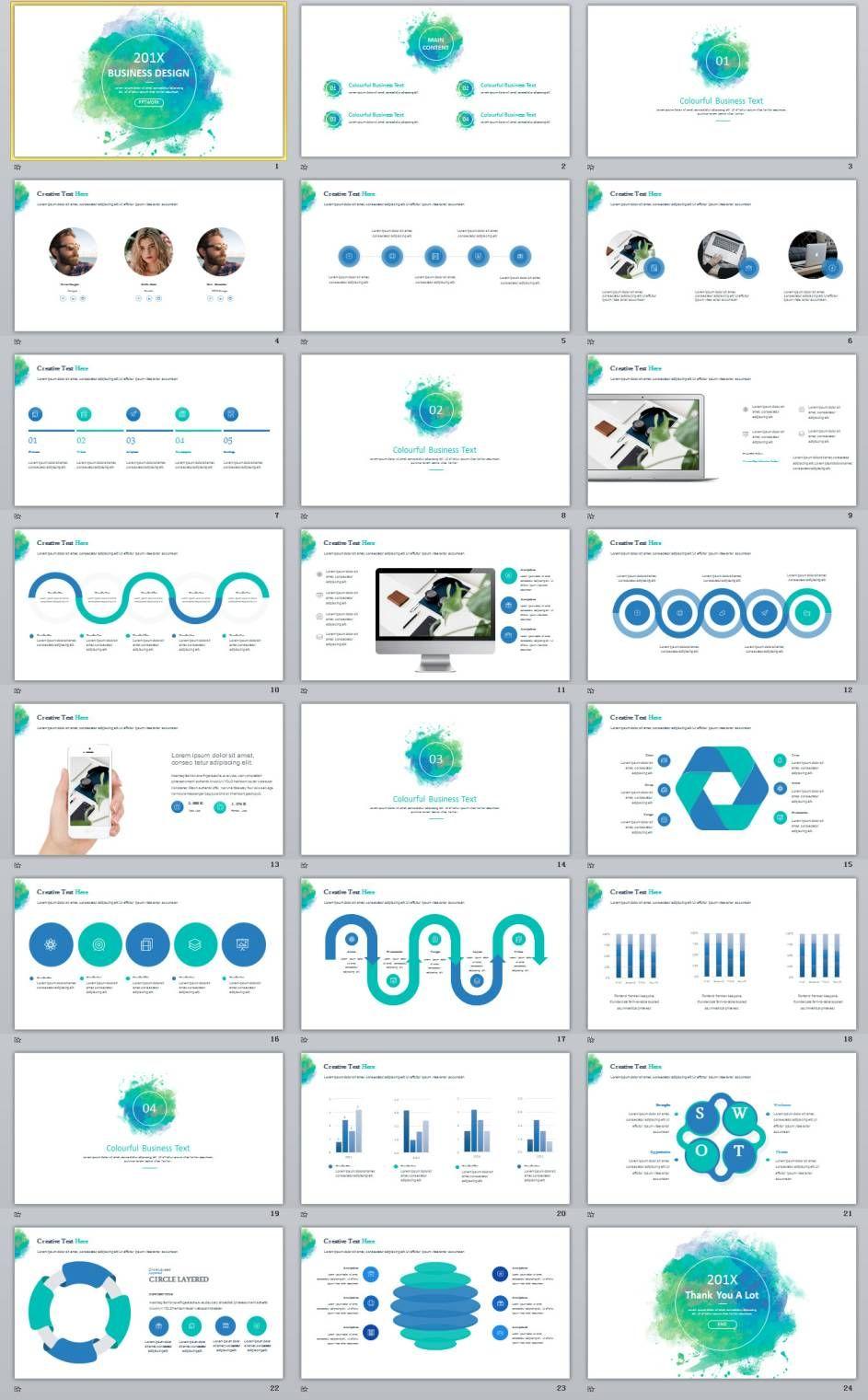 24 blue creative business design powerpoint template 2018 24 blue creative business design powerpoint template toneelgroepblik Gallery