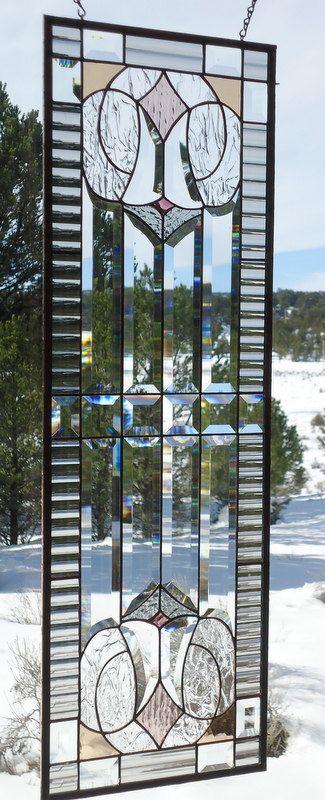 stained glass window panelARTS & CRAFTS от ZuniMountainArtGlass