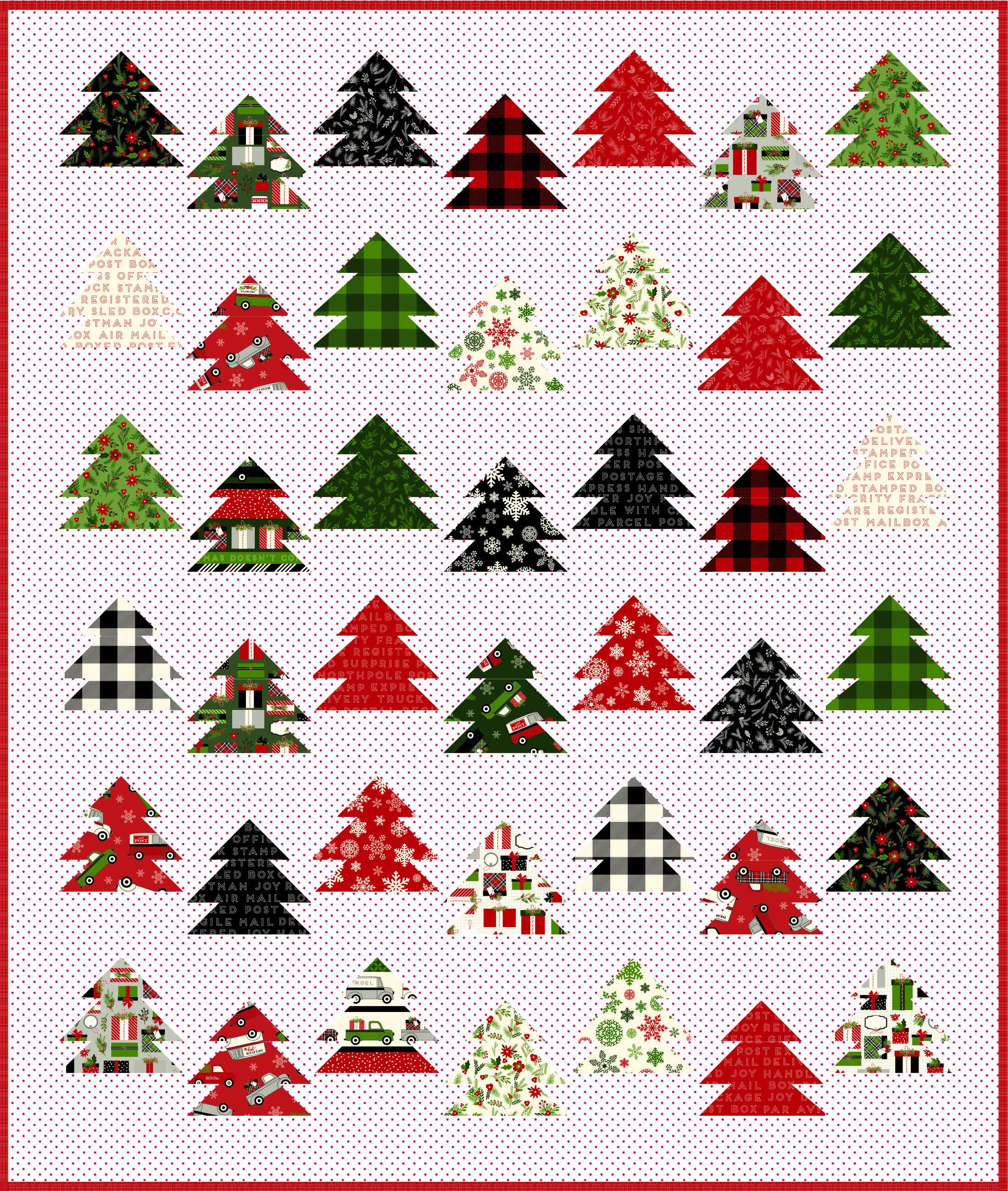Keera Job - Tree Farm Quilt Pattern | Christmas Quilts | Pinterest ...