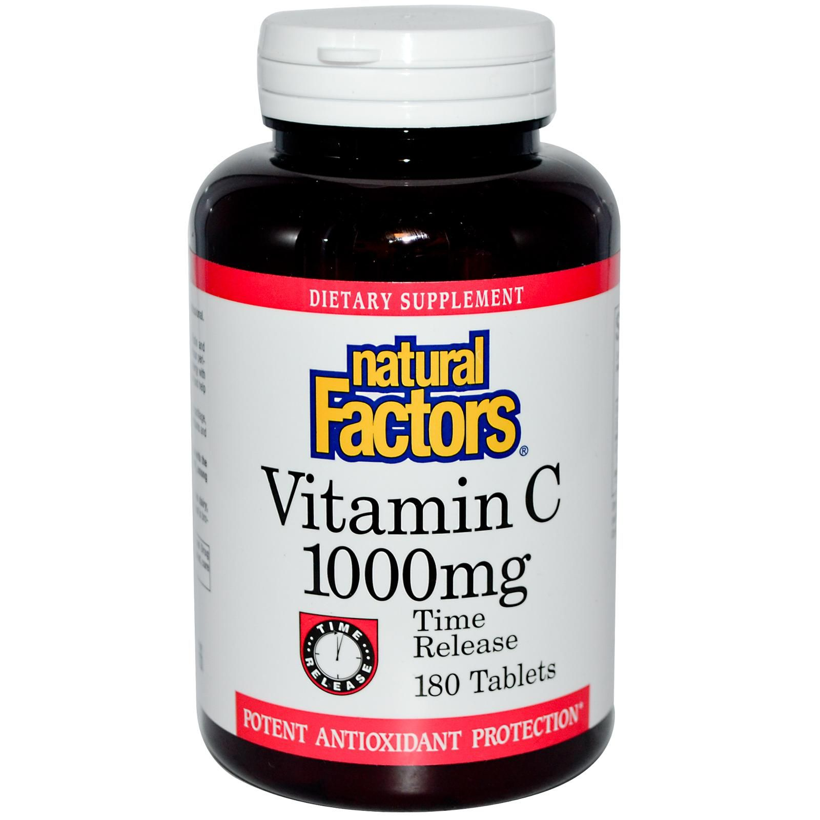 Natural Factors, Vitamin C, Time Release, 1000 mg, 180