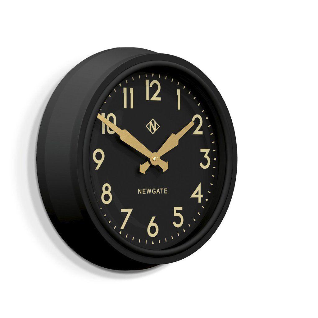 50 S Electric Clock In Matte Black On Black In 2020 Wall Clock Clock Electric Clock