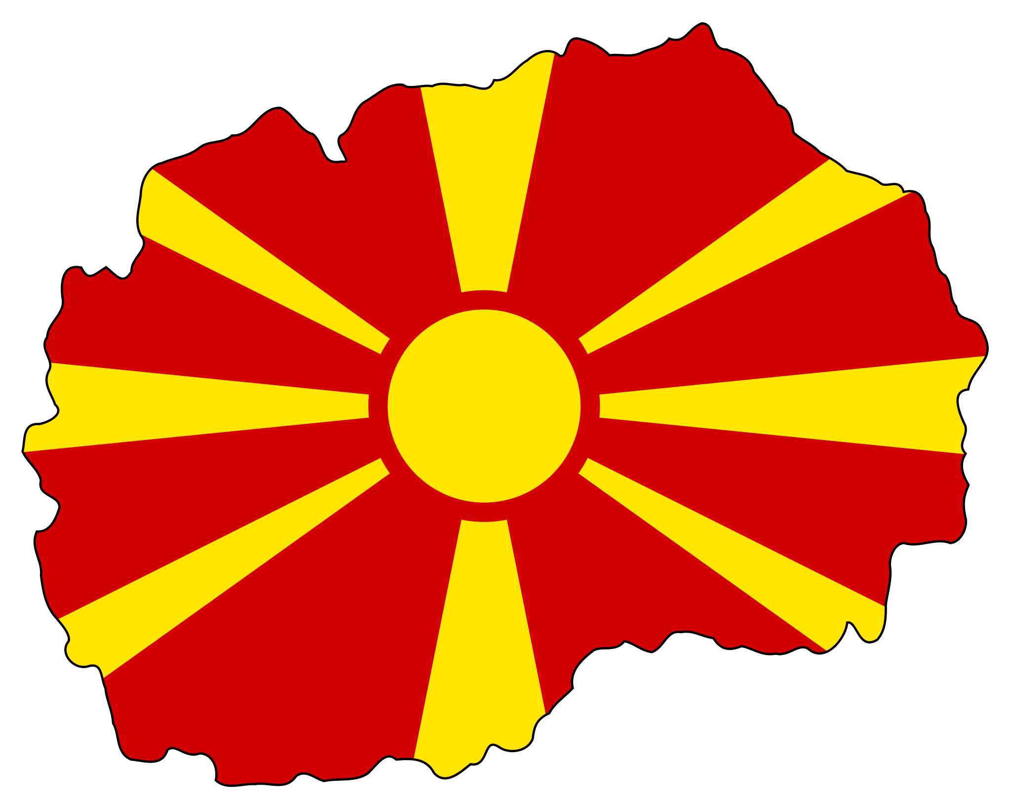 Macedonia Flag Map Mapsofnet Eur Greece Turkey Albania - Macedonia map quiz