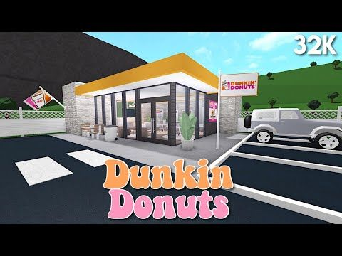 No Gamepasses Dunkin Donuts Bloxburg Speedbuild Youtube House Plans With Pictures City Layout Two Story House Design