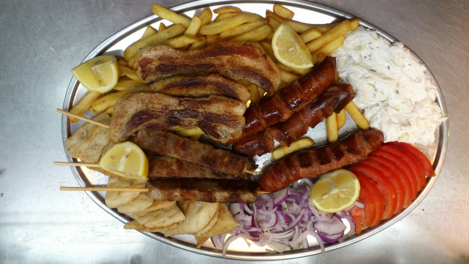 Mix grill Geogios Taverne Rhodes