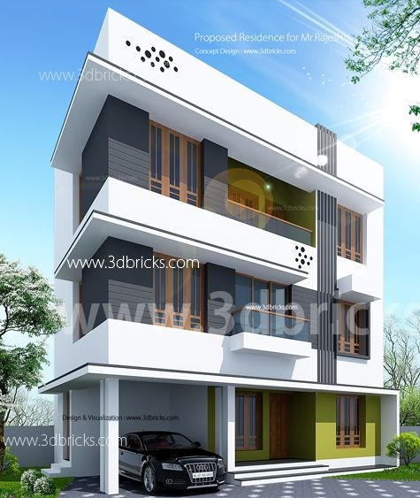 3 Storyed House With Images Floor Plan Design House Design House Styles